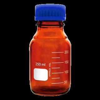 Frasco Reagente Âmbar Borossilicato Tampa Azul