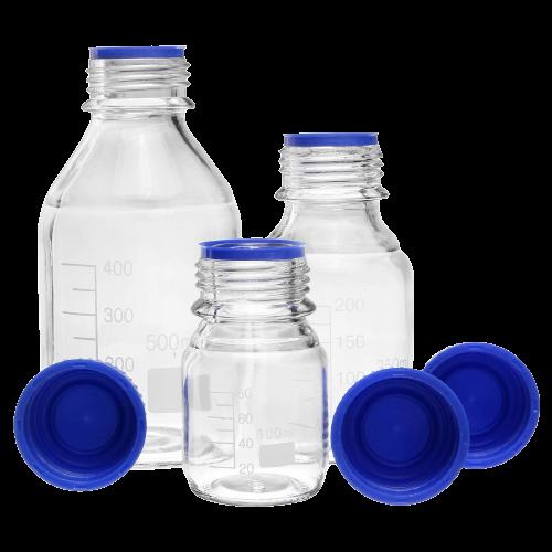 Frasco Reagente Incolor Borossilicato Tampa Azul